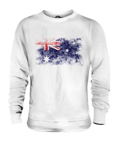 Australie Drapeau Délavé Unisexe Pull Australien Chemise Maillot de Football