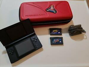 Nintendo-DS-Lite-w-charger-case-amp-2-GBA-games-Spyro-2-amp-Crash-Bandicoot-2