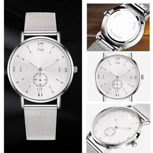NEW-Women-Men-Watches-Stainless-Steel-Crystal-Analog-Quartz-Bracelet-Wrist-Watch