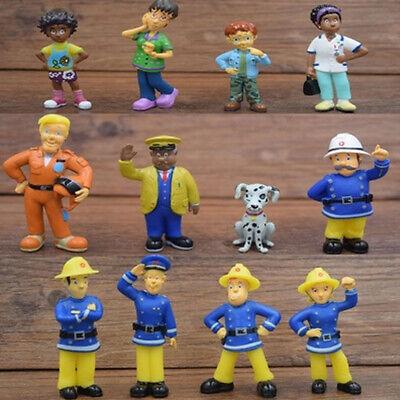 Fireman Sam Elvis Penny Steele Dilys Helen Norman Tom 12 PCS Action Figures Toys