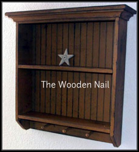 Primitive Grungy Wainscoting Shelf//Cupboard Pattern//Plan WN119
