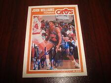 John Hot Rod Williams 1989 Fleer #31 Cavs Tulane Signed Authentic Autograph M7