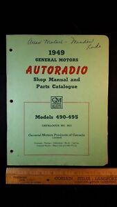 1949-GM-AUTORADIO-gt-490-495-Original-Shop-Parts-Catalog-Brochure-CDN