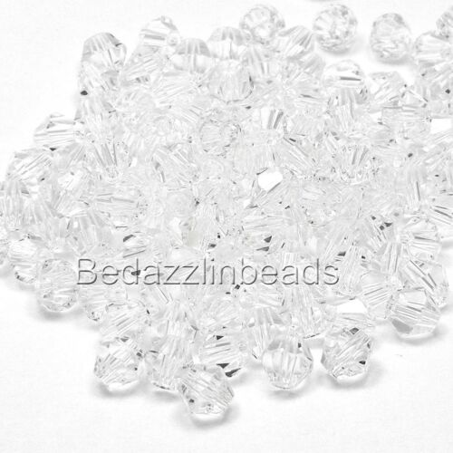 Lot of 50 Bedazzlinbeads 6mm Glass Double Cone Faceted Bicone Beads Many Colors