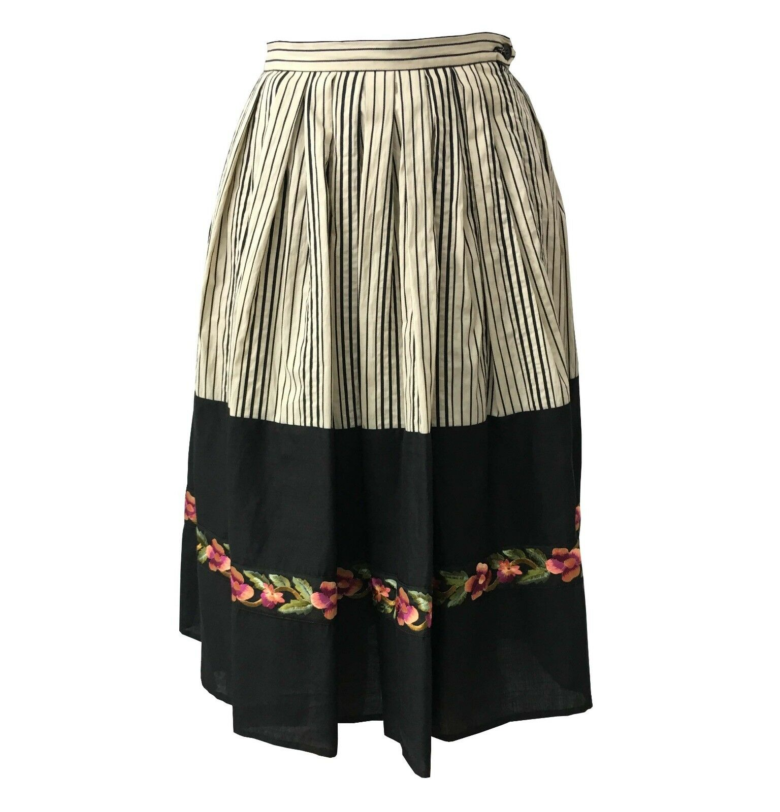 release info on recognized brands hot new products Details about Attic and Barn Skirt Woman Ecru/Black with Details Mod. Frida  Made in Italy