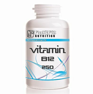 Vitamin B12 (30,98€/100g) 250 Tabletten je 250mcg / Die preiswerte Alternative
