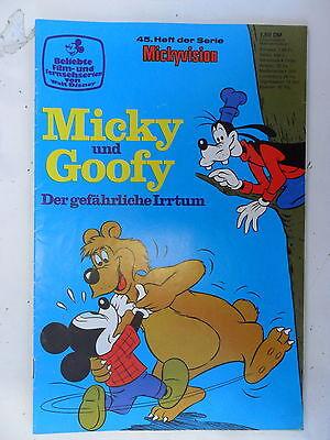 1 X Comic Walt Disney - Mickyvision Nr.45 Micky Und Goofy - Zustand 1-2/2 Reines Und Mildes Aroma