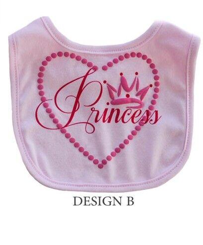 1 X Bebé Niñas Princesa Rosa Suave al Tacto Babero elección de diseño