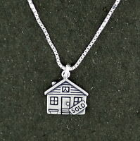 Real Estate House Sold Sign Pendant Necklace Sterling Silver 18 Box Chain