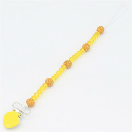 Unisex Toddler Baby Chain Strap Dummy Pacifier Soother Nipple Leash Clip Hot 8C