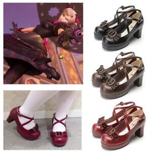 OW-D-va-DVA-Black-Cat-Luna-Women-Girl-Gothic-Lolita-Cross-Strap-Cosplay-Shoes