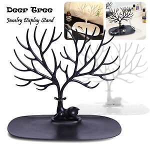 Image Is Loading Jewelry Deer Tree Stand Display Organizer Necklace Ring