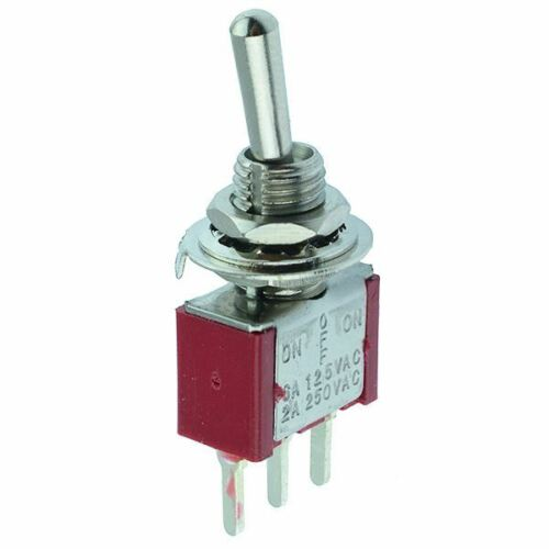 10 x On-Off-On Miniature PCB Toggle Switch SPDT Mini