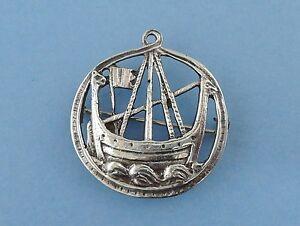 Vintage-Sterling-Silver-Iona-Viking-Ship-Pendant-Brooch