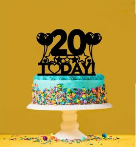 Image Is Loading 20th Birthday Cake Topper 20 Years Old Twentieth