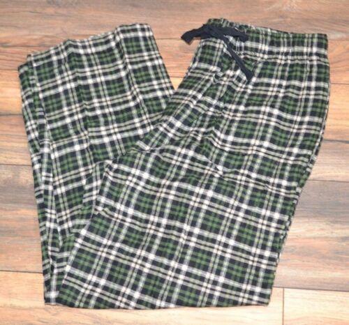 Berkley Jensen Green Plaid Flannel Lounge pants Side Pockets Elastic Waistband