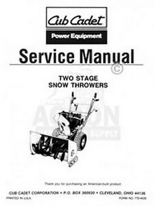cub cadet 450 two 2 stage snow thrower service manual ebay cub cadet 3x 24 snowblower manual cub cadet snow blower manual pdf