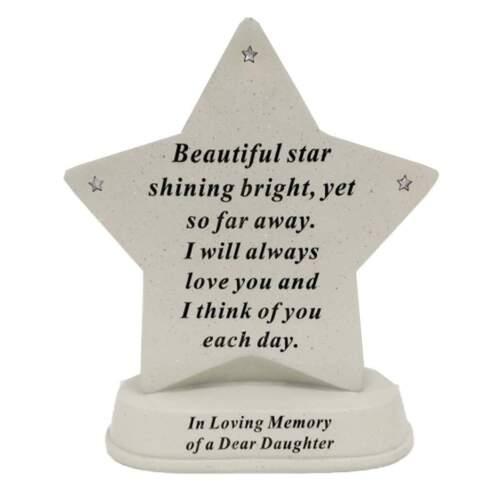 Nouveau Memorial strass étoile Tombe plaque sentimental maison jardin Keepsakes
