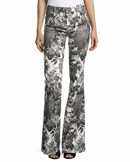 Stella McCartney Jeans - Black Floral Print  - Made in Italy - 27