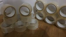 12 X Clear Packing Sellotape Cello Tape 48mm X 66m Roll Parcel Wide Strong Large