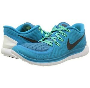 923f4bc09670 Nike Women s Free 5.0 Blue Lagoon Black Voltage Green running 724383 ...