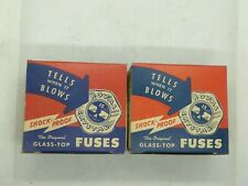 Royal Crystal Glass Top 30 Amp House Fuses Box Of 5 NOS Vintage