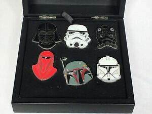 RARE Disney Star Wars Weekends 2008 Limited Ed Pin Set Imperial Heads Jumbo Pins