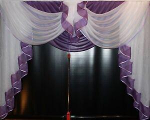 Store Gardine Deko Vorhang in der Farbe Weiß// Flieder