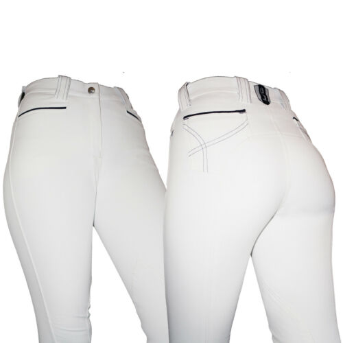 Mark Todd Contender Ladies Competition Breeches Water & Wind Resistant White