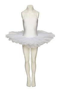 WHITE-Swan-Halloween-Ballet-Fancy-Dress-Costume-tutu-vestito-tutte-le-taglie-by-Katz