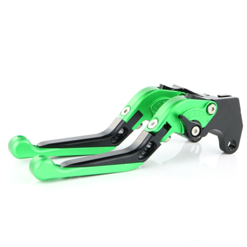 CNC Clutch Brake Levers and Grips For Kawasaki Z800 E version 2013-2016 Green