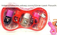 Hello Kitty By Sanrio 6 Pc Nail Set Polish+file+bow Shaped Tote Stocking Stuffer