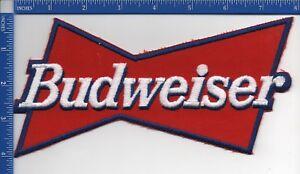 "Anheuser-Busch : Budweiser Beer patch 8"" X 4"" Iron on patch NOS"