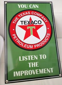 FREE ship on any 8 signs Conoco Gasoline gas oil sign.