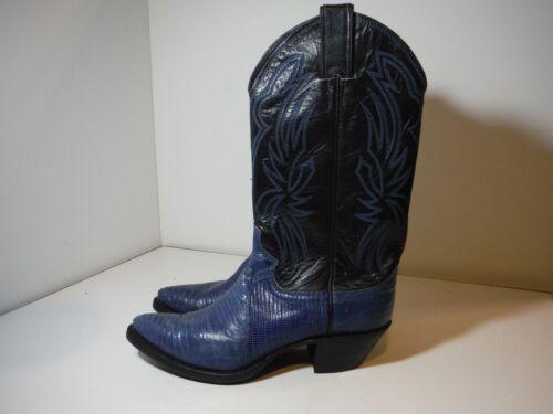 Iguana blu di Sz in Use 1 Womens Stivali 6b Cowboy Justin 8347 Western lucertola pelle wqzS1fw