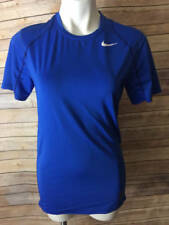 Nike Men's Pro Cool Fitted Dri Fit Training Top Blue Size L 703104 480