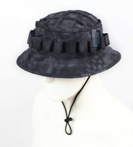 78861dffdfc57 Image is loading Tactical-Boonie-Hat-Military-Camo-Cap-Sniper-Ghillie-