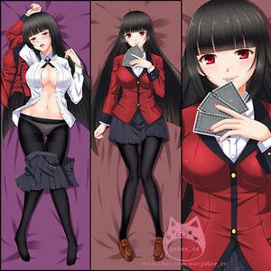 Anime Jabami Yumeko Kakegurui Gambaling Dakimakura Hugging Pillow Case Cover New