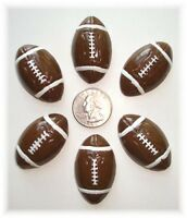 6pc Large Football Flat Back Flatback Resins Cheer Spirit 4 Hairbow Bow Center