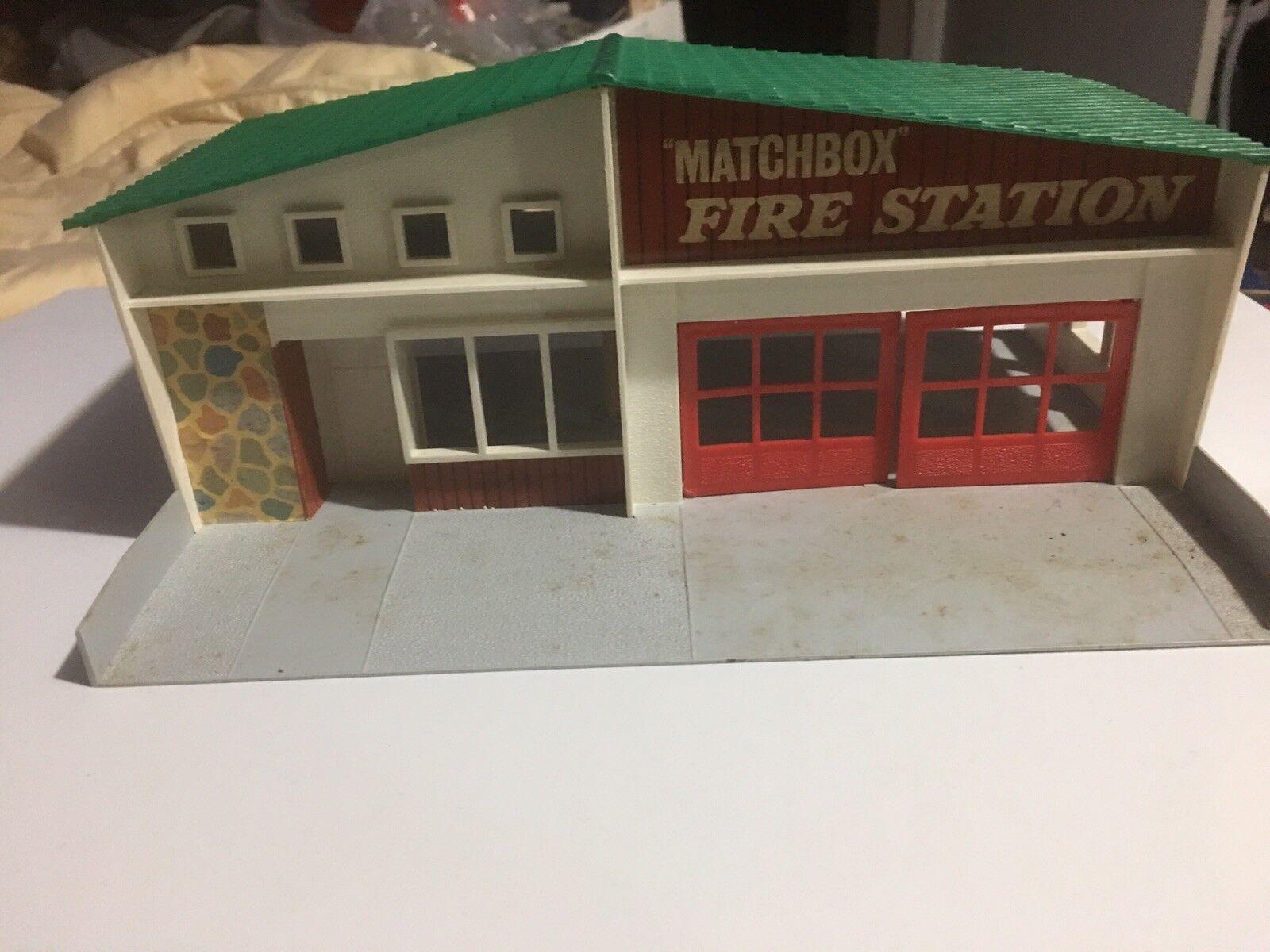 MATCHBOX LESNEY ACCESSORY MF-1b Fire Station RARE toit vert Net Comme neuf in ou BOX
