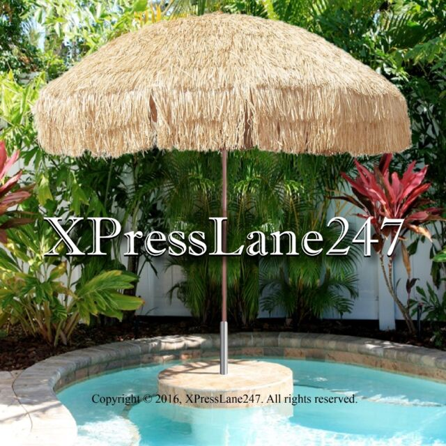 8 Foot Deluxe Tropical Island Tiki Bar Thatched Patio Umbrella