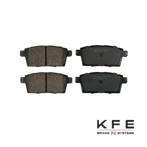 Premium Ceramic Disc Brake Pad FRONT REAR NEW Set With Shims KFE1258 KFE1259