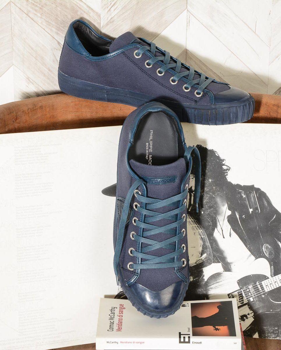 Philippe Model Sneakers men GARE CANVAS blue GRLU CB04
