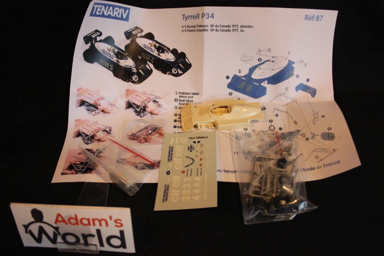 Tenariv Tenariv Tenariv kit Tyrrell Ford P34 1977 1 43  3    4 Peterson   Depailler GP CAN 7dc820