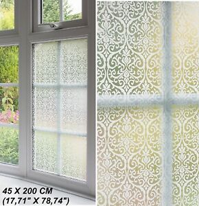 Self Adhesive Window Film Door Vinyl Privacy Sticky Back ...