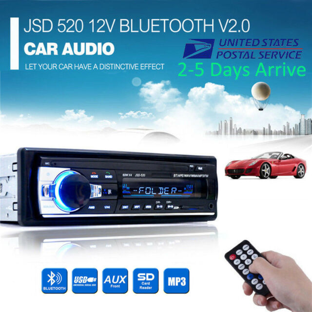 1 DIN 12V Car Stereo with Remote Head Unit
