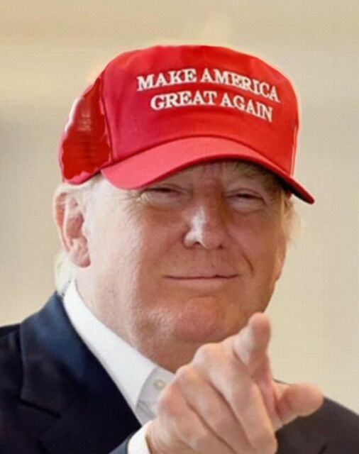 MAKE AMERICA GREAT AGAIN -  RED Foam Front, Mesh HAT with Rope - Trump