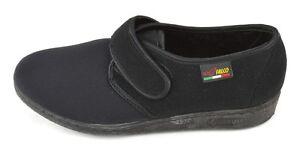 GAVIGA-FALCO-902-Nero-pantofola-confort-scarpa-elasticizzata-strappo-antiscivolo