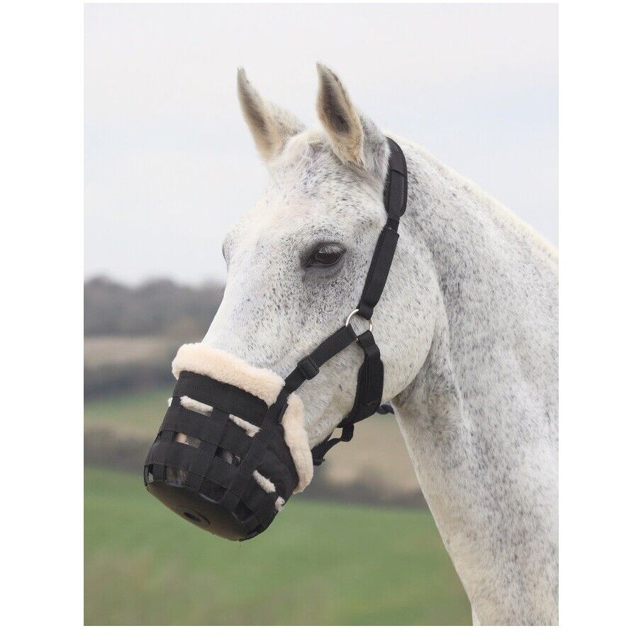 Shires Deluxe Grazing Muzzle for Horse  Comfort padding Rubber base S - XL  in stock