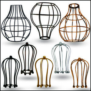 Custom-vintage-metal-bulb-guard-light-cage-Wire-frame-loft-ceiling-pendant-shade